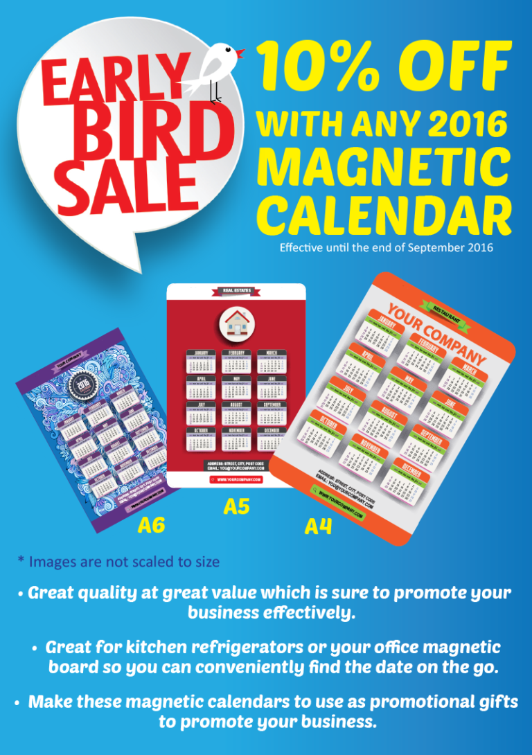 2016 Magnetic Calendar – Promotional Gifts
