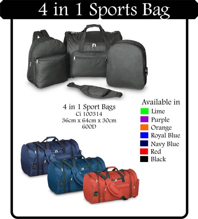 4 in 1 Sports Bag