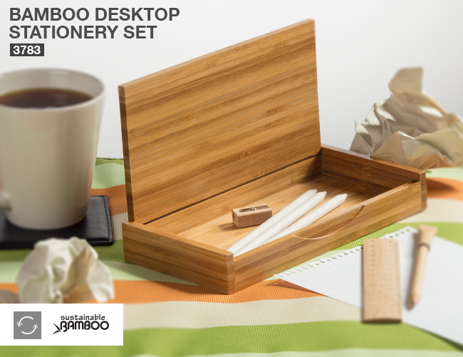 Bamboo Desktop Stationery Set