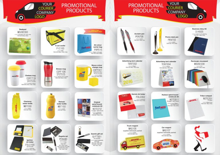 Courier Company Promotional Products