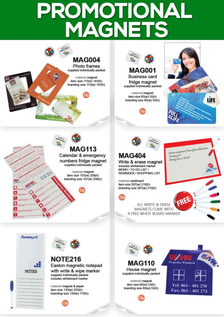 Fridge Magnets with full colour print – Promotional Items