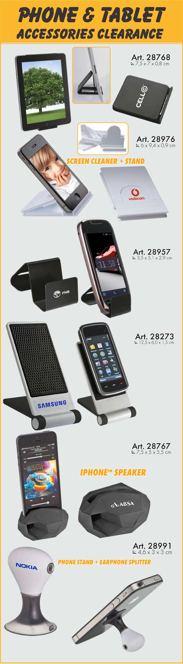 Phone and Tablet Accessories – Promotional Items