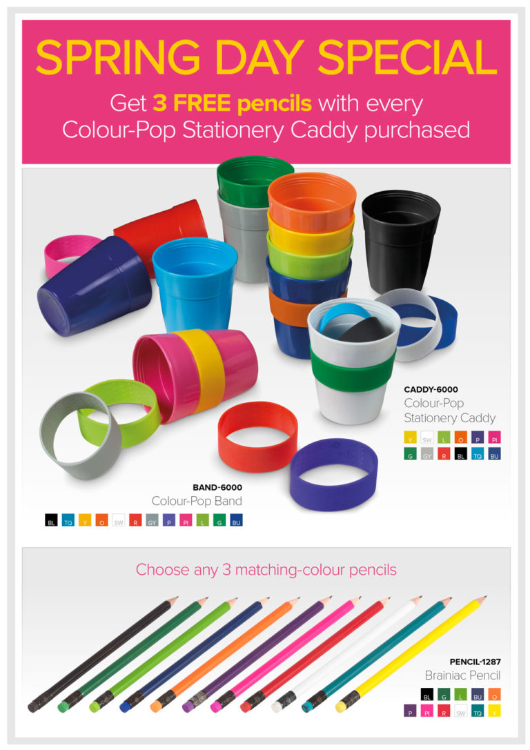 Colour-Pop Stationery Caddy – Promotional Items
