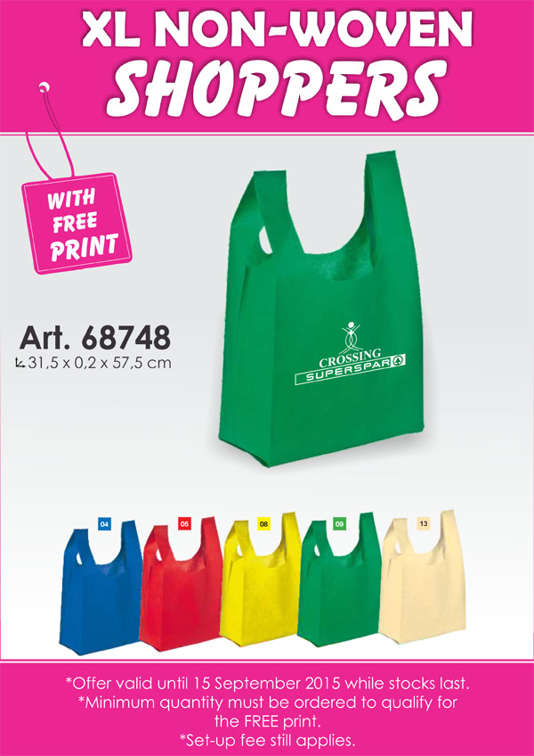 Non-Woven Shopper Bag with print – Promotional Item