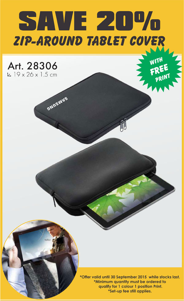 Zip Around Tablet Cover – Promotional Gifts
