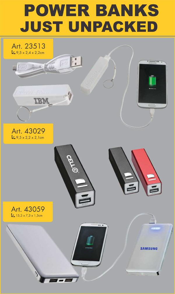 USB Items – Power Banks