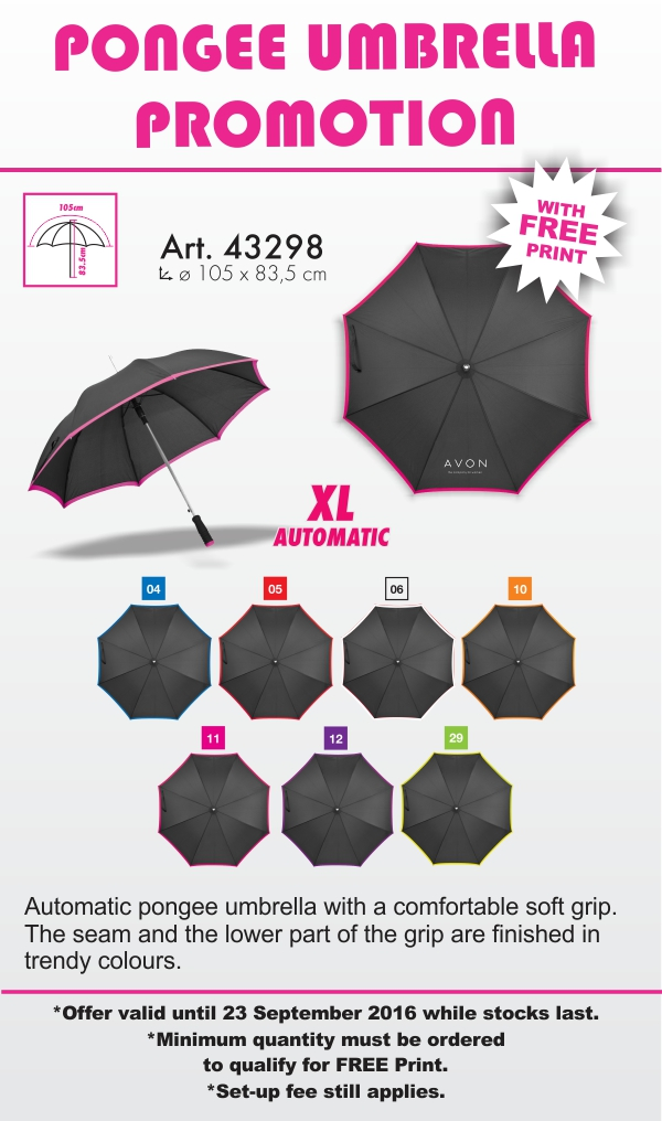 Automatic pongee umbrella