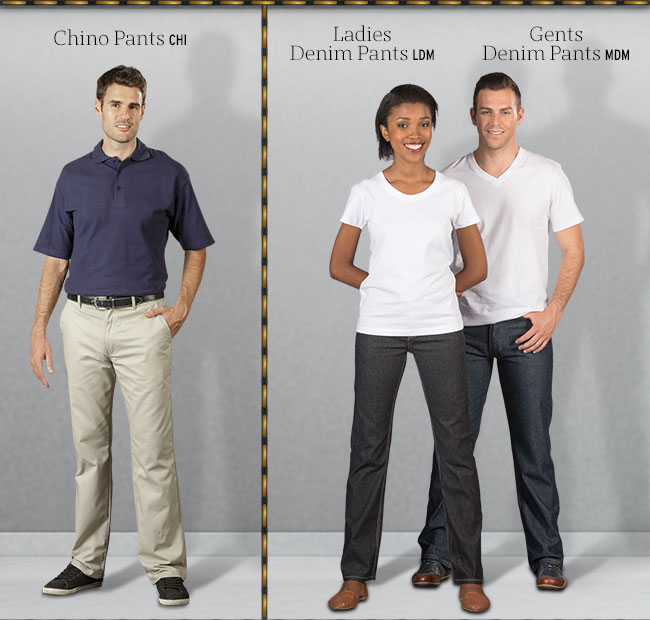 Chino's ,Denims and cargo pants