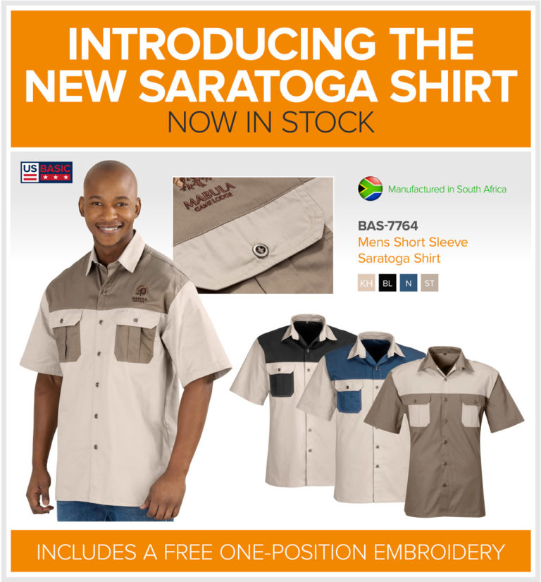 Mens short sleeve Saratoga shirts