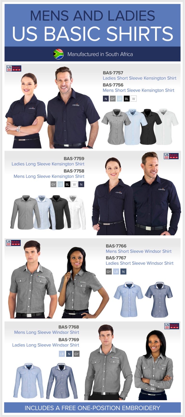 Locally Manufactured US Basic Shirts