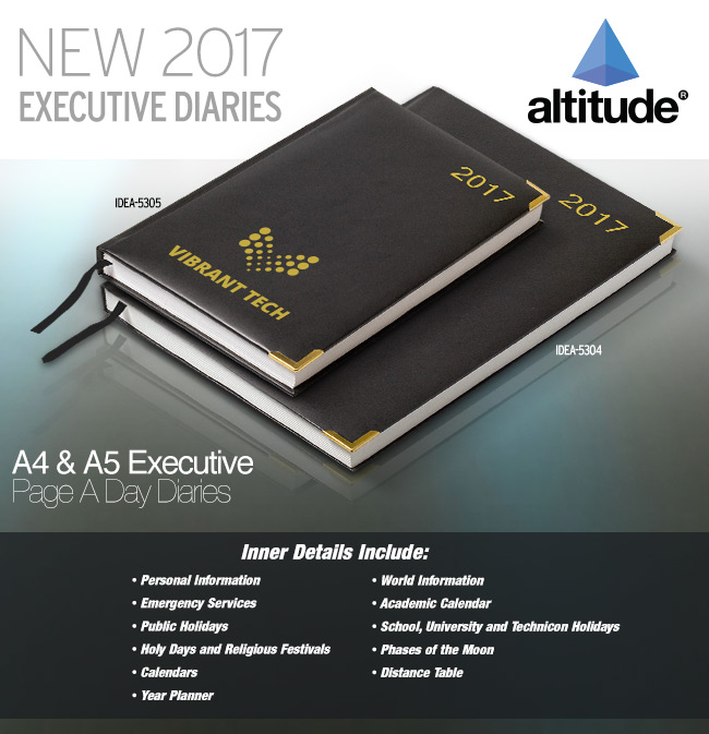 A4 & A5 Executive Page A Day Diaries