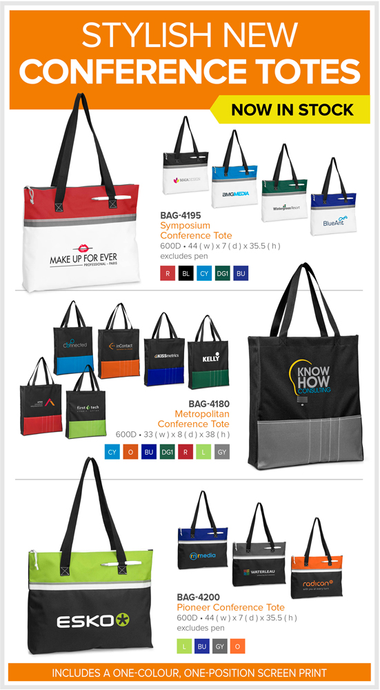 Stylish New Conference Totes