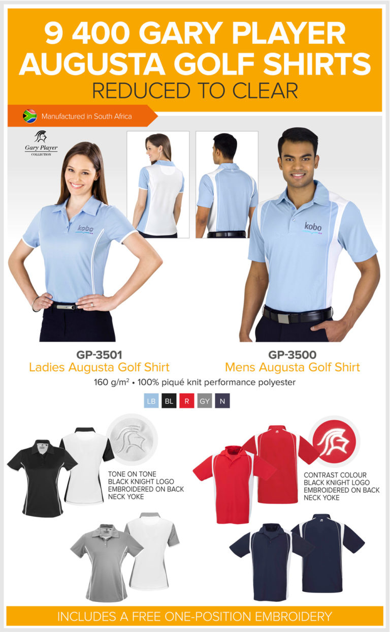 Gary Player Augusta Golf Shirts Reduced to Clear