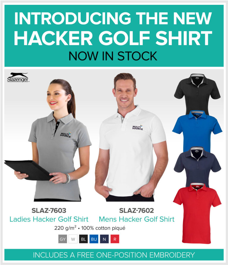 New Slazenger Hacker Golf Shirt
