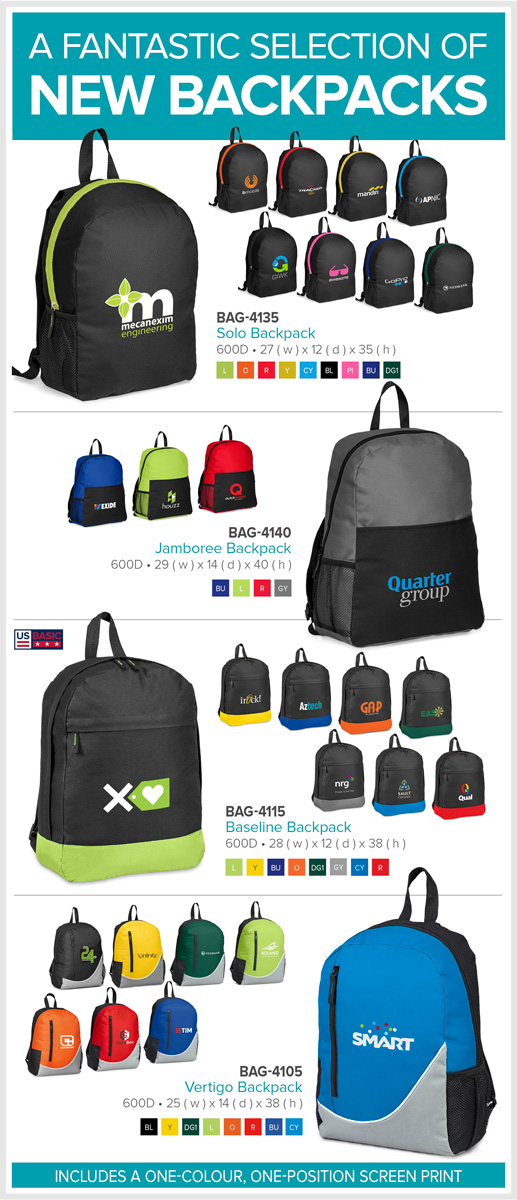 Selection of New Backpacks